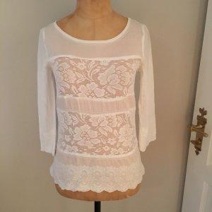 Zara Bluse Tunika Gr. 36 aus Spitze Baumwolle top