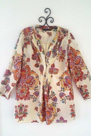 Zara Woman Tunique-blouse multicolore coton