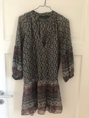 ZARA Bluse Tunika Oberteil Top Shirt transparent Ornament Hippie Boho Festival
