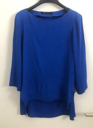 Zara Bluse, Viskose, royal blue