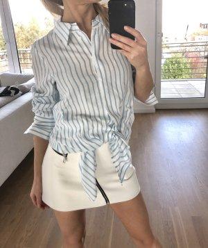 Zara Bluse Weiß Blau gestreift Gr. S Hemd