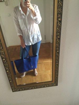 ZARA Bluse weiß Tunika M S oversize 38 wNeu Shirt