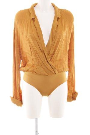 Zara Blusa tipo body naranja dorado elegante