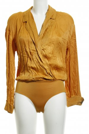 Zara Bodysuit Blouse gold orange elegant