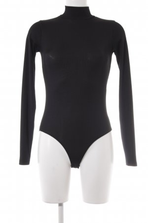 Zara Blusa tipo body negro look casual