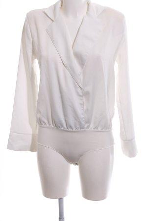 Zara Blusa tipo body blanco estilo «business»