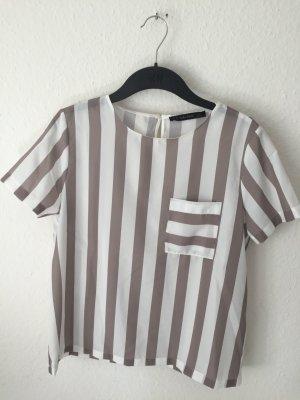 Zara Blusen Shirt gestreift