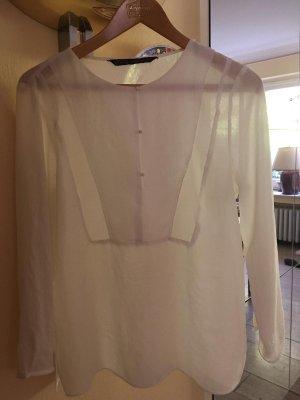 Zara Blusenhemd Gr. 38 weiss neuwertig