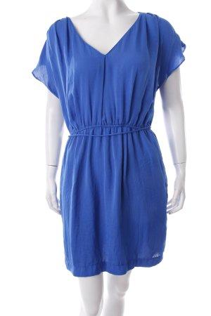 Zara Blusenkleid blau Glanz-Optik