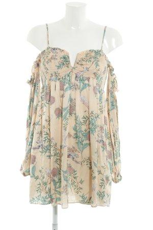 Zara Blusenkleid Blumenmuster Boho-Look