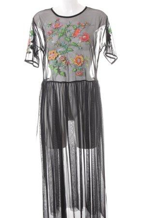 Zara Blusenkleid Blumenmuster Party-Look