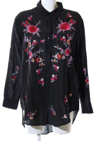 Zara Vestido camisero estampado floral elegante