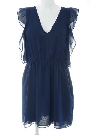 Zara Blusenkleid dunkelblau Casual-Look