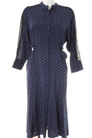 Zara Blusenkleid dunkelblau-weiß Punktemuster Casual-Look