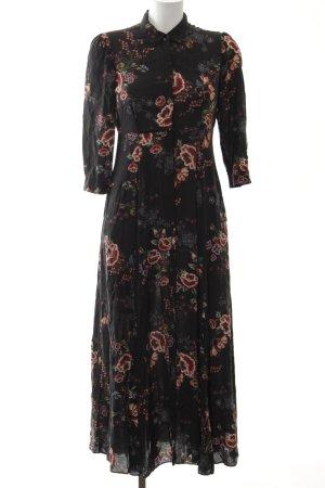 Zara Blusenkleid florales Muster schlichter Stil