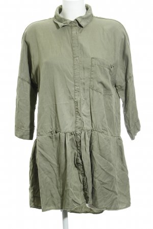 Zara Blusenkleid grüngrau Casual-Look