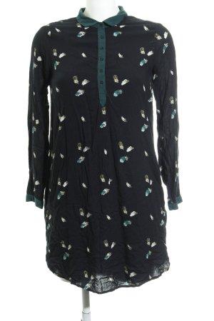 Zara Vestido camisero estampado temático look «Brit»