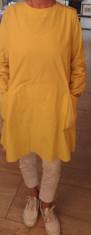 Zara Vestido camisero amarillo