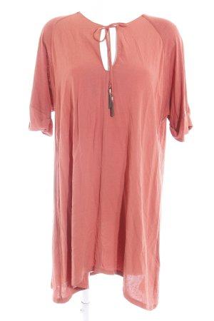 Zara Blusenkleid rostrot Casual-Look