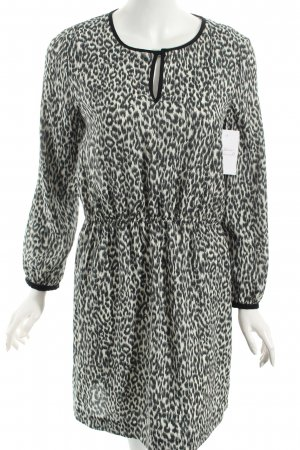 Zara Robe chemisier noir-blanc imprimé animal