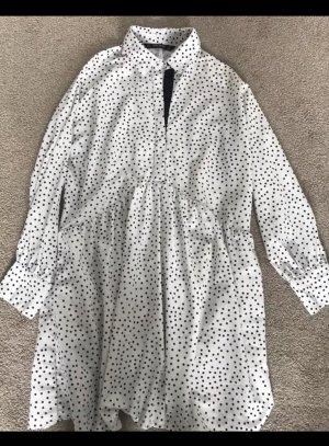 Zara Blouse Dress white-black