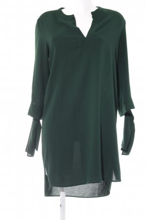 Zara Blusenkleid waldgrün Webmuster Casual-Look