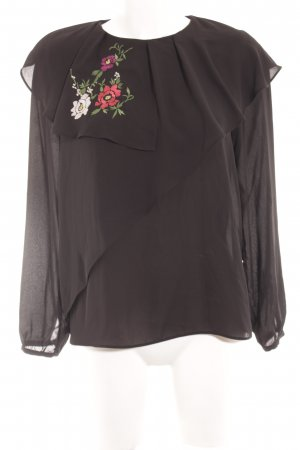 Zara Blouse Collar floral pattern casual look