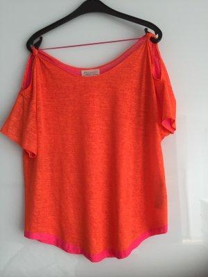 Zara Blusenshirt in neonfarben