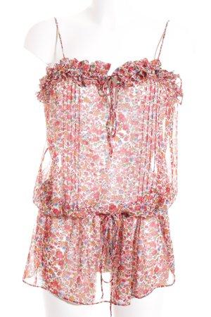 Zara Blusentop florales Muster Romantik-Look