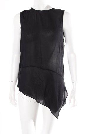 Zara Blusentop schwarz asymmetrisch