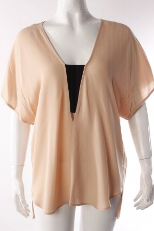 Zara Blouse Top gold orange-nude