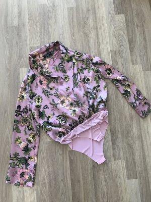 Zara Blouse en soie mauve-rose