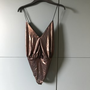 Zara Body Party top, Bronze Gold, neu, M S, 36, 38, neu mit Etikett.