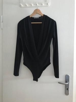 Zara Trafaluc Blusa tipo body negro