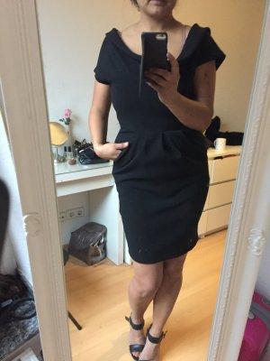 Zara Bodycon Kleid, M, 38, schwarz, mit Taschen, neu, super Dekolleté