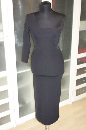 ZARA bodycon Stretch Kleid mit cut out und one shoulder schwarz Gr.M
