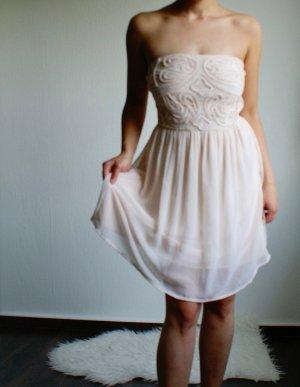 Zara Vestido bandeau multicolor