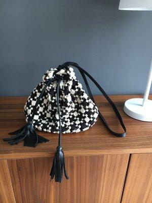 Zara Boho Summer Tasche black&white hippie Bag