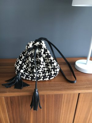 Zara Boho Summer Tasche black&white hippie Bag