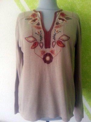 Zara Tunique-blouse bronze coton