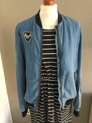 Zara Bomberjacke Denim Badges S