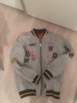 Zara Blouson aviateur gris clair