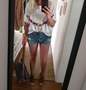 Zara Trafaluc Oversized Shirt white