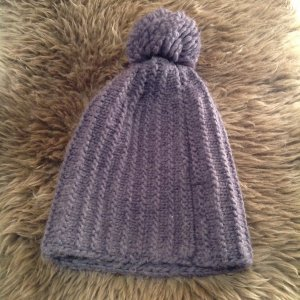 Zara Knitted Hat anthracite synthetic fibre