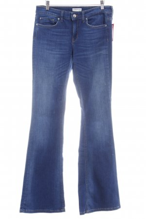 Zara Boot Cut Jeans blau meliert Casual-Look