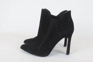 Zara Booties High Heels Gr. 37 Wildleder schwarz