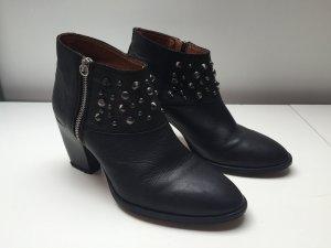 ZARA Boots 39 Ankle Boots Nieten schwarz Stiefelette Leder