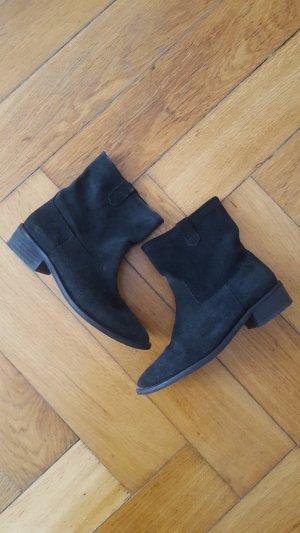 Zara Korte laarzen zwart Leer