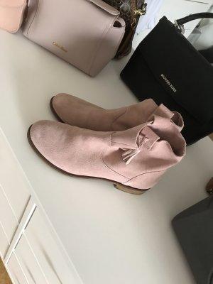 Zara Botas de tobillo color rosa dorado