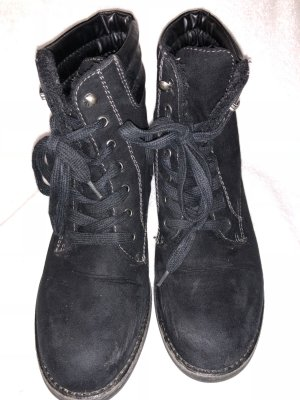 Zara Botas con cordones negro